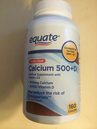 Equate Oyster Shell Calcium 500 mg + Vitamin D 200 IU - Compare to OS-