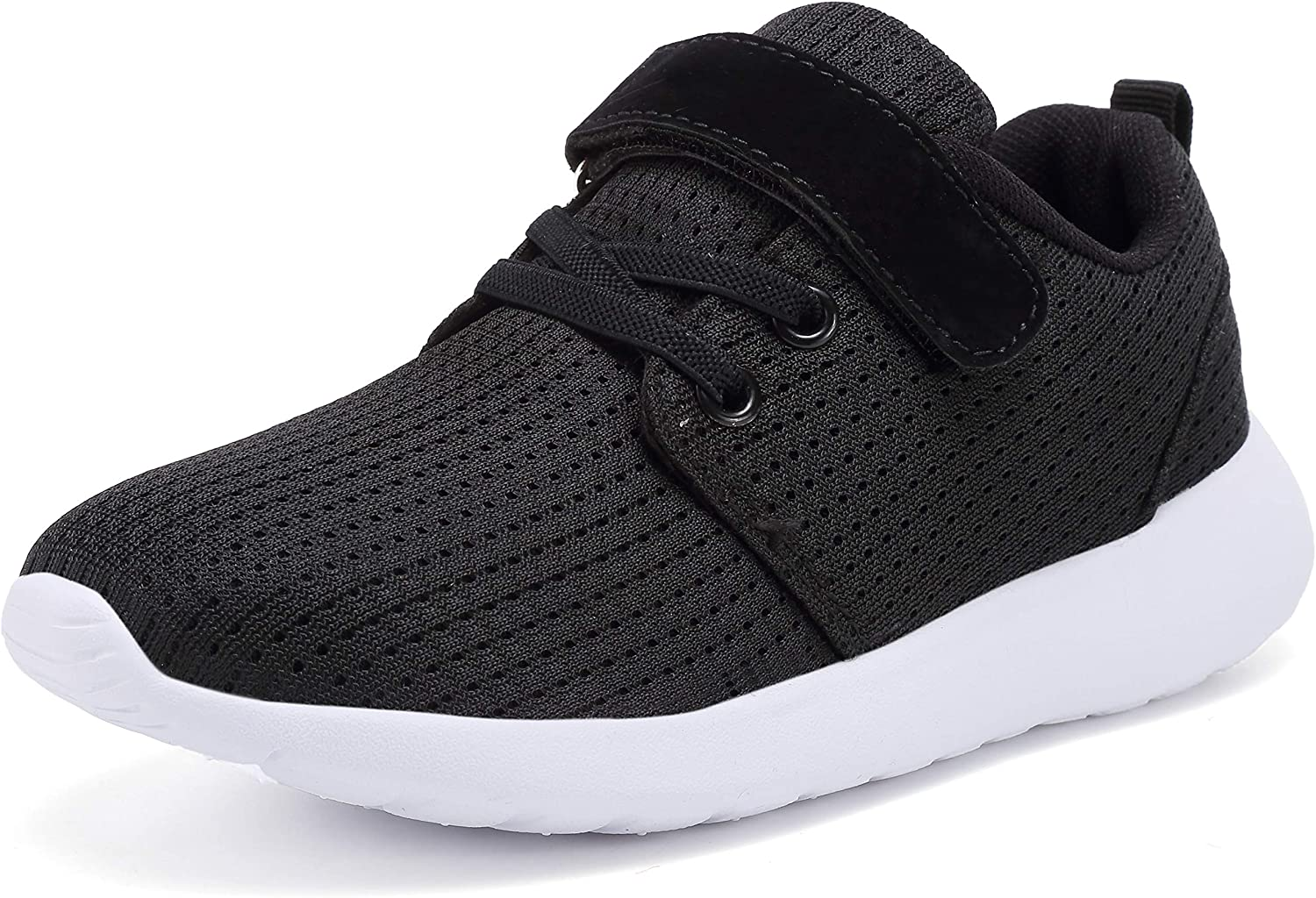 Cdon Boys Girls Lightweight Breathable Sneakers Strap Athletic Running Shoes