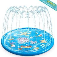 Aitere Water Sprinkler Pad for Kids, Upgraded 68' Summer Outdoor Water Toys Wading Pool Splash Play Mat for Toddlers Baby, Outside Water Play Mat for 1-12 Years Old Children Boys Girls