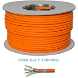 Cable de conexión Ethernet con conectores dorados, Cat 7, S/FTP, PiMF, sin halógenos, 600MHz, para streaming, IPTV, reproductores de vídeo, receptores de satélite, servidores, ordenadores de sobremesa
