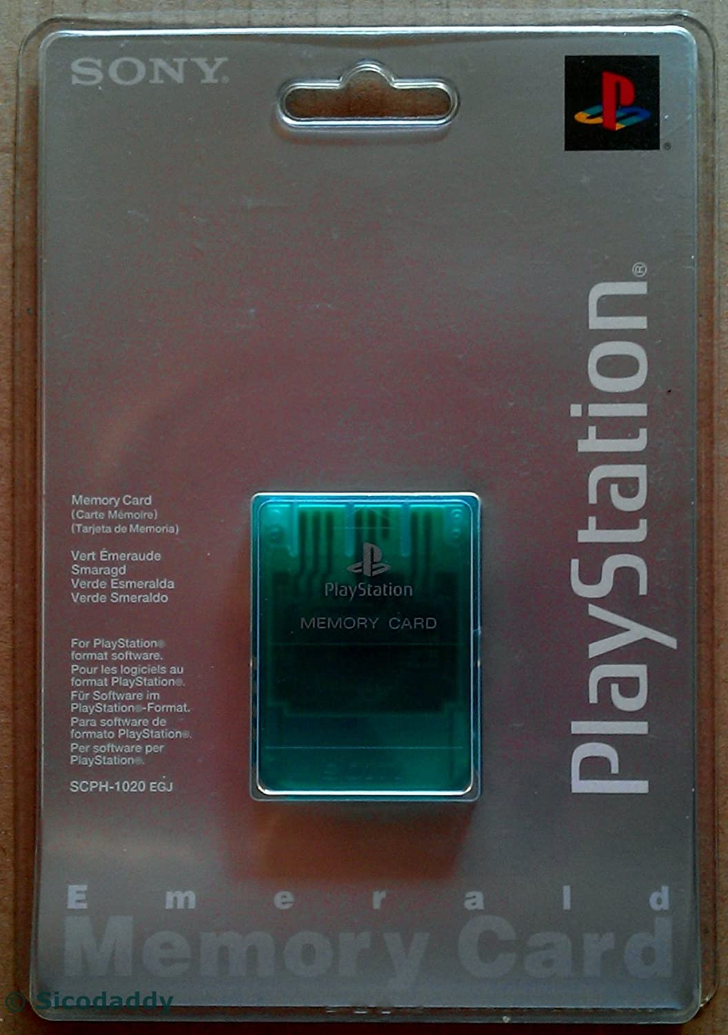 Amazon.com: PlayStation PsOne Memory Card Emerald Green ...