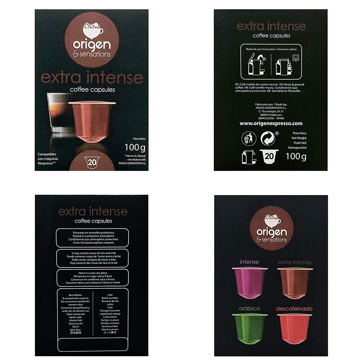 Nespresso Compatible Capsules - 120 Pods Pack - Extra Intense Expresso pods for Nespresso full compatible with Original Line Nespresso Machine, 120 Capsules ...