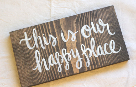 This Is Our Happy Place Hand Painted by ktmichelledesigns on Etsy