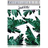 Pack It Chic - 10X13 (100 Pack) Tropical Leaves Poly Mailer Envelope Plastic Custom Mailing & Shipping Bags - Self Seal