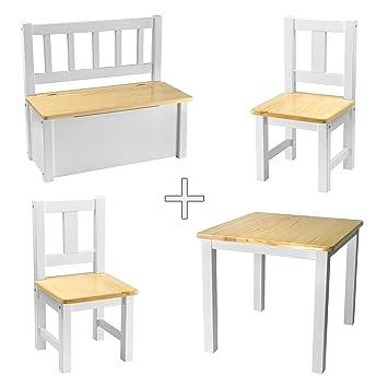 Rabando® - Salon de jardin en bois massif laqué blanc non traité ...