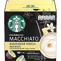 Starbucks Madagascar Vanilla Macchiato by NESCAFÉ Dolce Gusto, Box of 12, 132g, Black