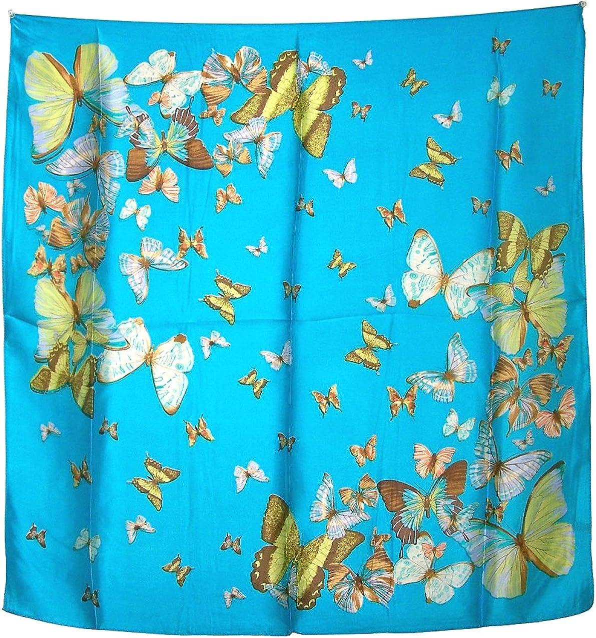 New 100/% Satin Silk Scarf Unique Butterfly Design