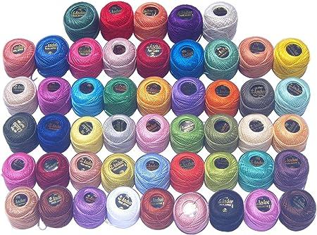 //10/color/é Coton crochet/é Thread-10gm par Ball- /à tricoter Lacey 030/85/metres 10/Ancre Perle boules de coton//Taille 8/ 85/metres chaque