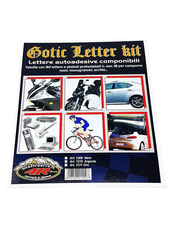 Kit Lettres Adh/ésives Gothique Dor/é