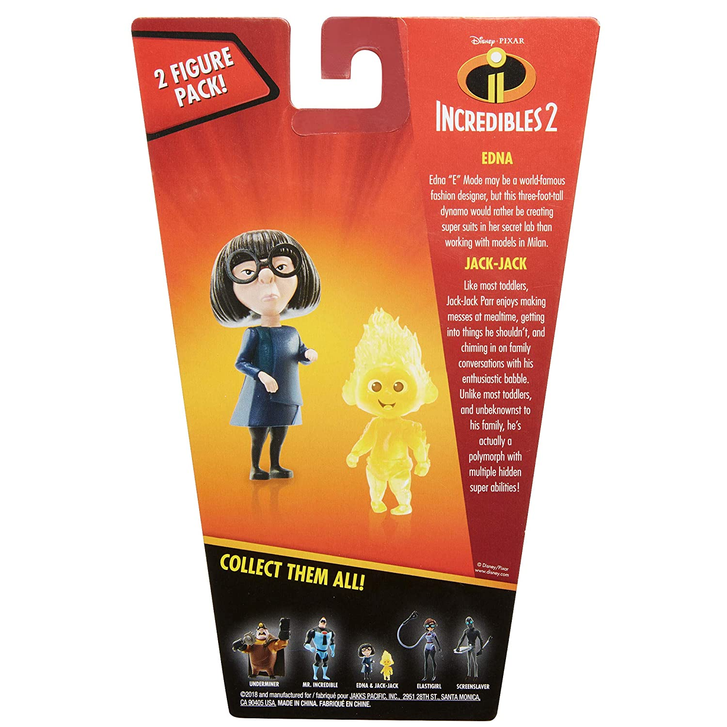The Incredibles 2 Edna /& Fire Jack-Jack Action Figures