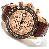 Invicta Mens Reserve Speedway Swiss Valjoux 7750 18k RGP Watch 10942