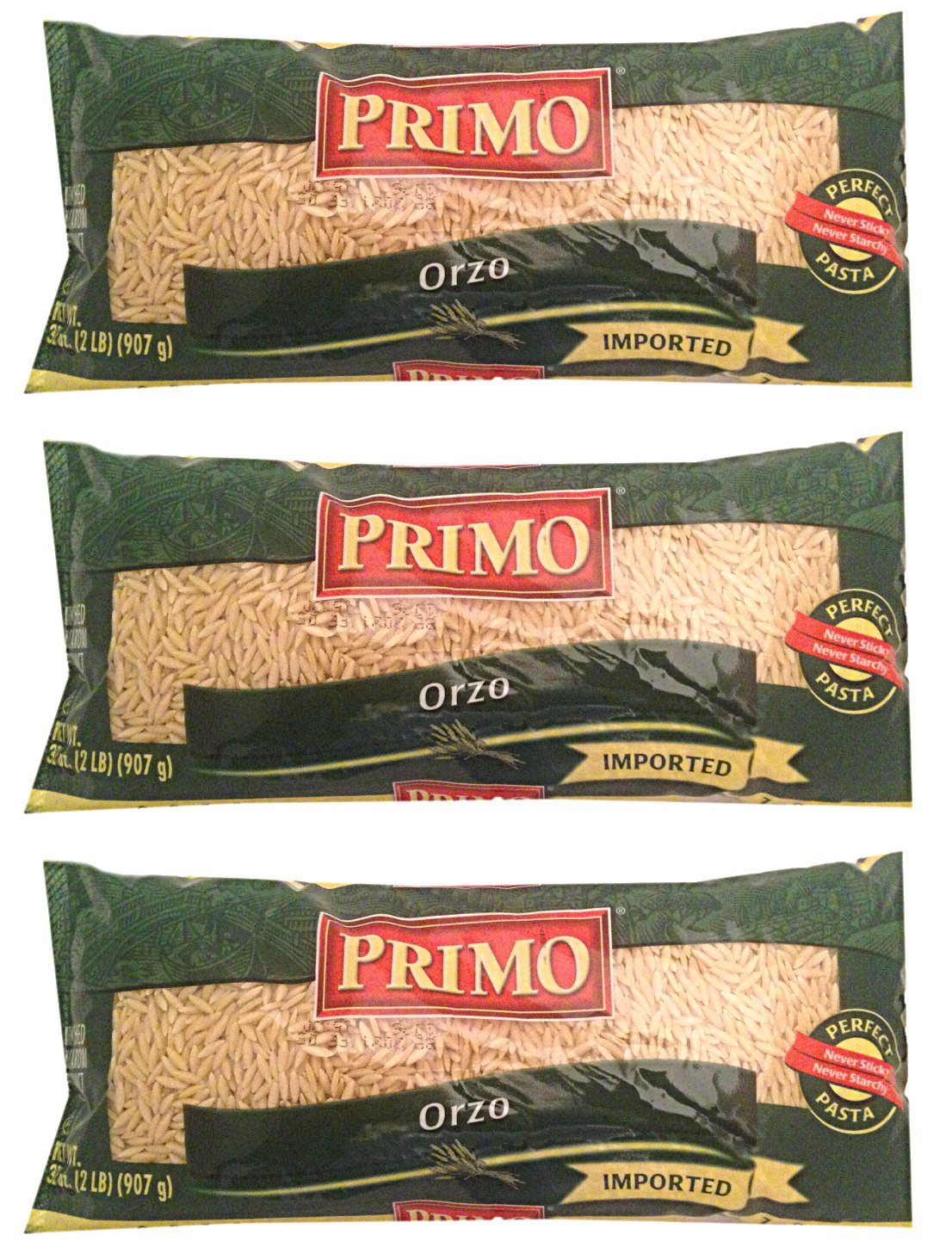 PRIMO, Orzo Pasta, 32 oz (Pack of 3)
