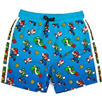 Super Mario Swim Shorts Boys Luigi Kids Gamer Swimming Trunks Pants