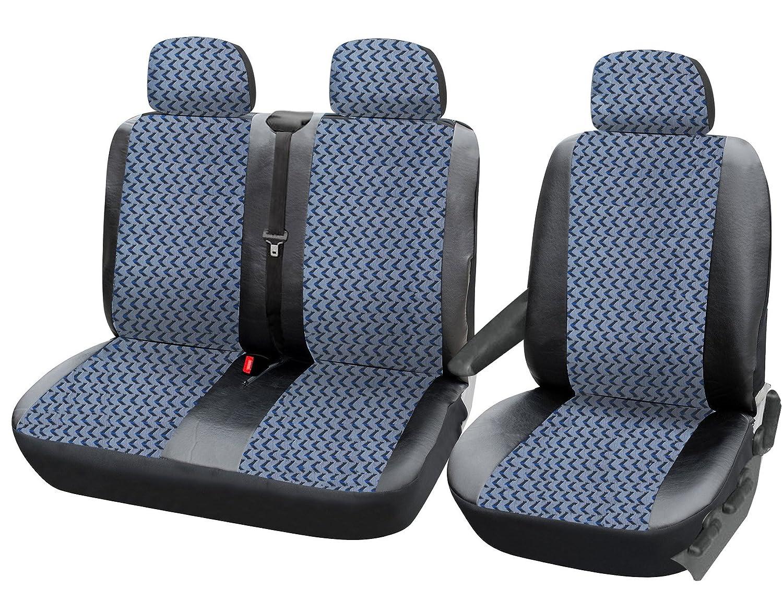 EUGAD 2+1 Set Coprisedili Auto Camion Universali con 3 Posti con Fodera per Poggiatesta Poliestere 0124QCZT