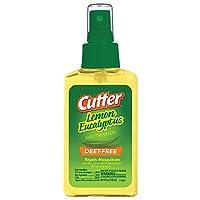 Cutter Lemon Eucalyptus Insect Repellent, Pump Spray, 4-Ounce