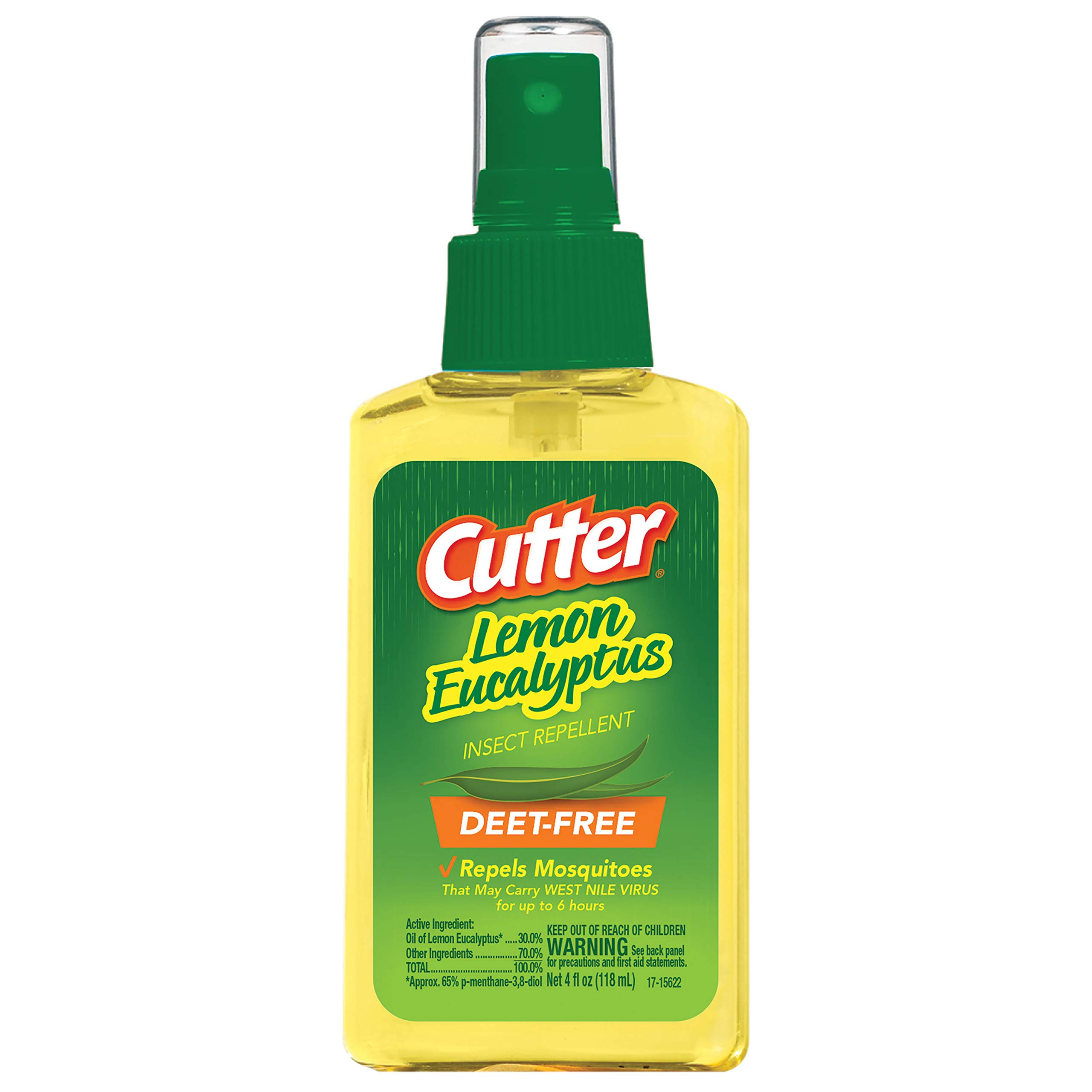 Cutter Lemon Eucalyptus Insect Repellent, Pump Spray, 4-Ounce