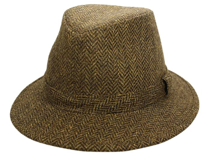 1960s – 70s Style Men's Hats Biddy Murphy Men's Irish Fedora 100% Wool Tweed Cap Made in Ireland $74.95 AT vintagedancer.com