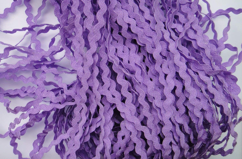 Lyracces Wholesale Lots 40yards Mini 5mm 24color Pick Woven Rick Rack Ribbon Ric Rac Trims Scrapbooking Dressmaking (Purple #7) GarmentSewingsupplies