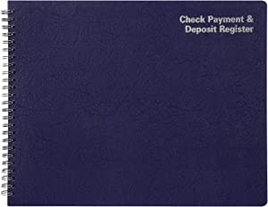 "Adams Check Payment and Deposit Register, 8-1/2"" x 11"", 44 Pages (AFR60)"