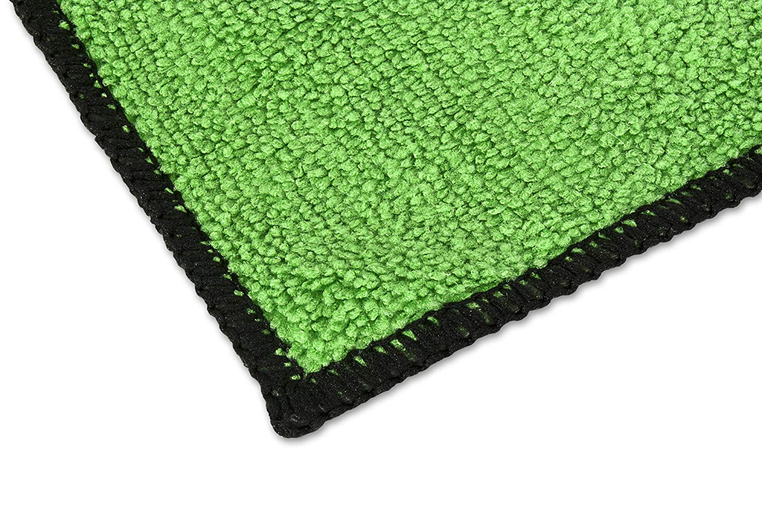 Eurow Microfiber Absorbent Cleaning Towels Green with Black Trim 12 x 12in 350 GSM Bulk Value 50 Pack Eurow /& O/'Reilly Corp.