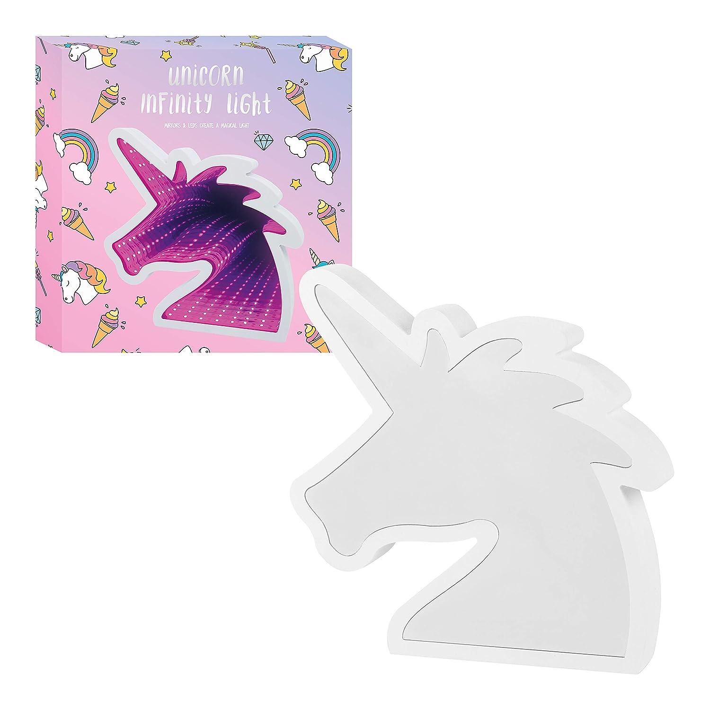 Global Gizmos Unicorn Infinity Mirror Light Decorative Mood Tunnel