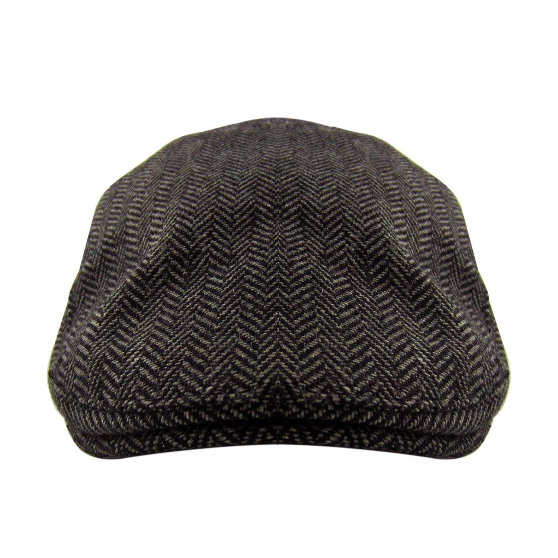 78f2b79d1353c HowYouth Classic Vintage Newsboy Herringbone Duckbill Tweed Flat Cap ...
