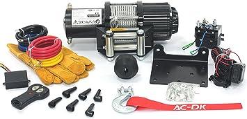 Ac Dk 12v 4500lb Atv Winch Utv Winch Electric Winch Set For