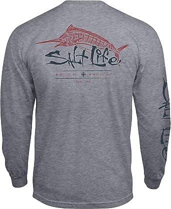 476628ac3 Amazon.com: Salt Life Men's Etched Marlin Short Sleeve T-Shirt: Clothing