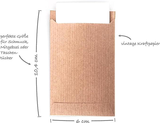 100 sacchetti regalo con scritta Freudentr/änen /& Sticker gioielli adesivi vintage e mini sacchetti di carta pensierini confezione regalo per matrimonio meraviglioso sacchetto piatto fazzoletti