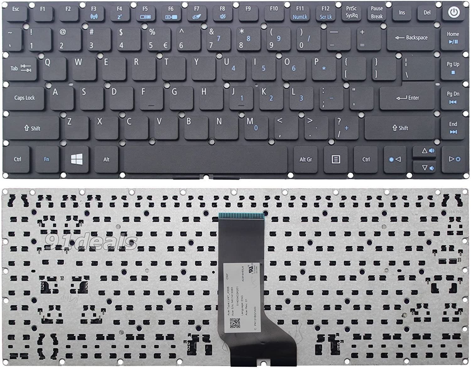 New Laptop Replacement Keyboard for ACER Aspire E5-471 E5-471G E5-471P E5-471G E5-472G E5-473G E5-473T E5-473TG Series US Layout LV4T_A50B NK114130B3 Black E5-473