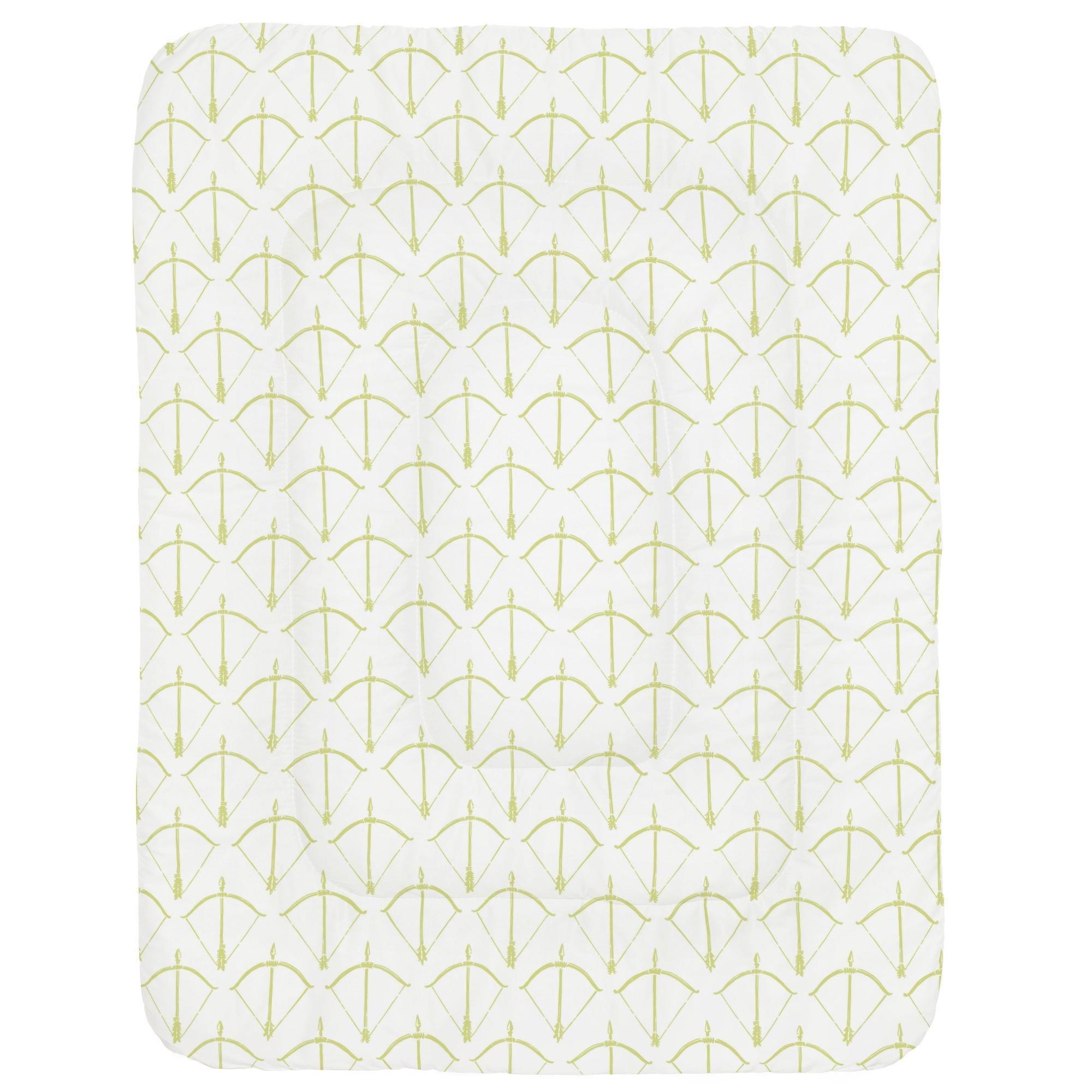Carousel Designs Light Lime Bow and Arrow Crib Comforter