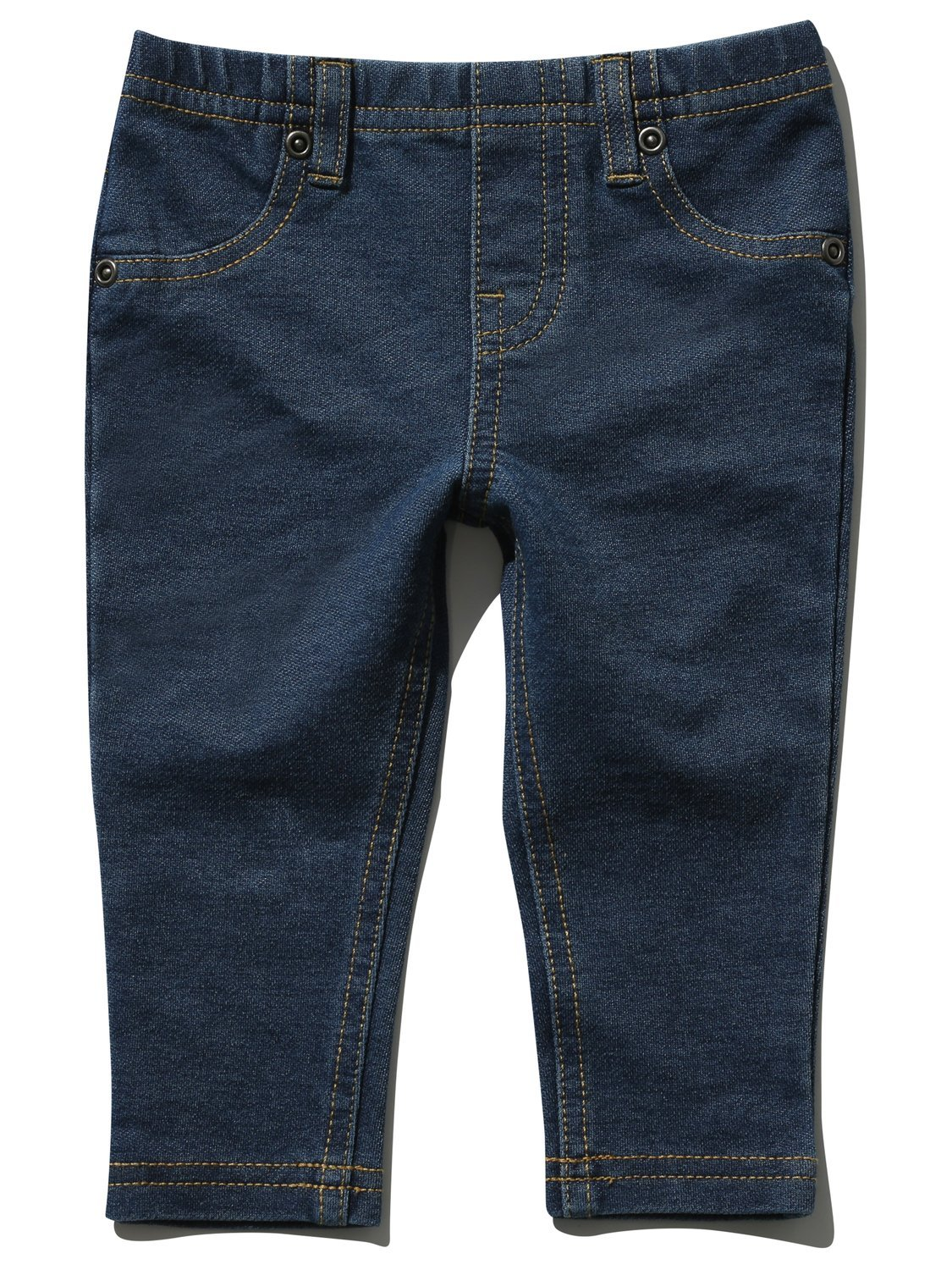 M&Co Baby Girl Cotton Stretch Denim Look Stitch Detail Back Pockets Belt Loops Jeggings