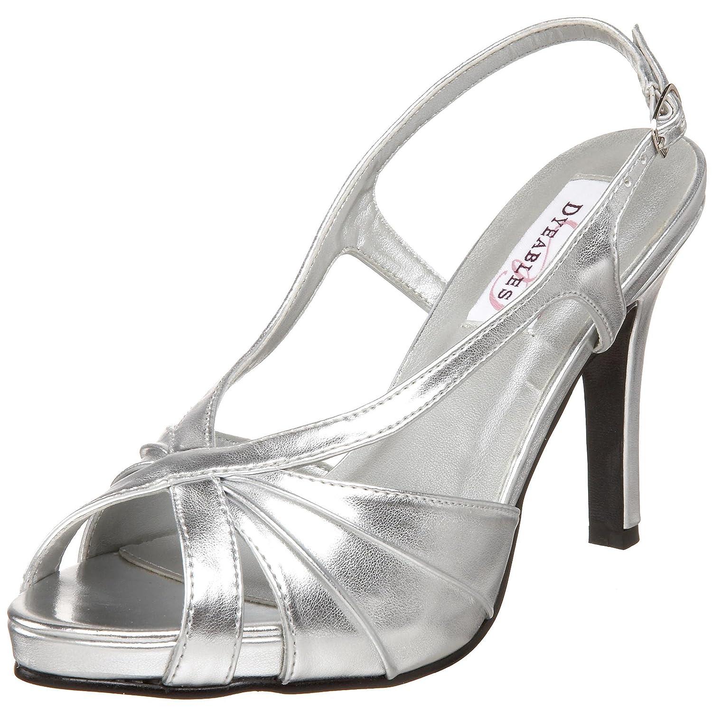 Dyeables Women's Aliyah Slingback Platform Sandal B002WPZBZU 7.5 B(M) US|Silver Metallic