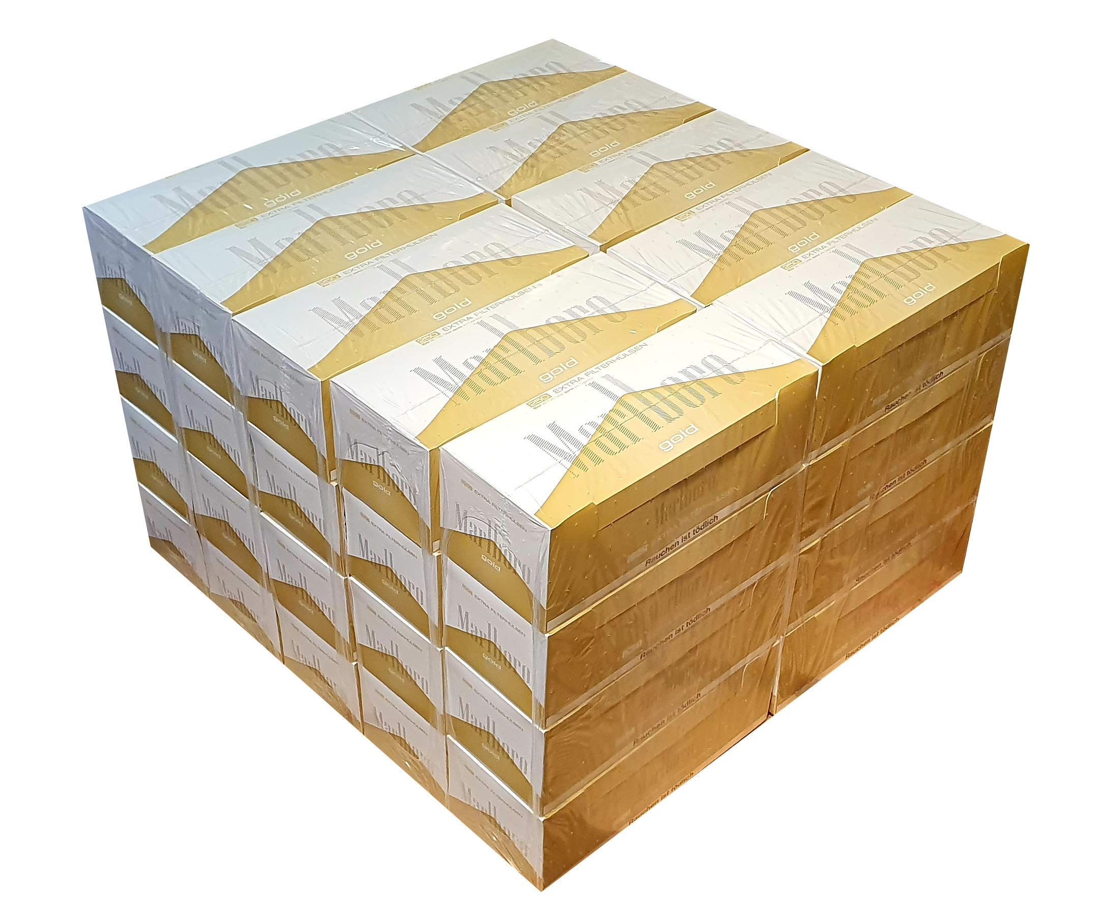 Marlboro Box of 10000 Gold Extra (40 x 250 Filter Tubes, Cigarette Tubes)