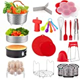 22 Pcs Accessories for Instant Pot 6 8 Qt, YIHONG Pressure Cooker Accessories Set,2 Steamer Baskets,7 Inch Springform Pan,Sta