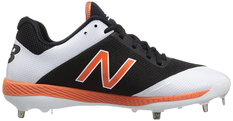 New Balance Men's L4040v4 Metal Baseball schuhe, schwarz schwarz schwarz Orange, 12 D US dc7400