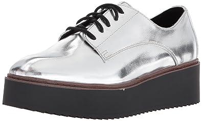78cb308d4bb1 Madden Girl Women s Written Loafer Flat Silver Paris 5.5 ...