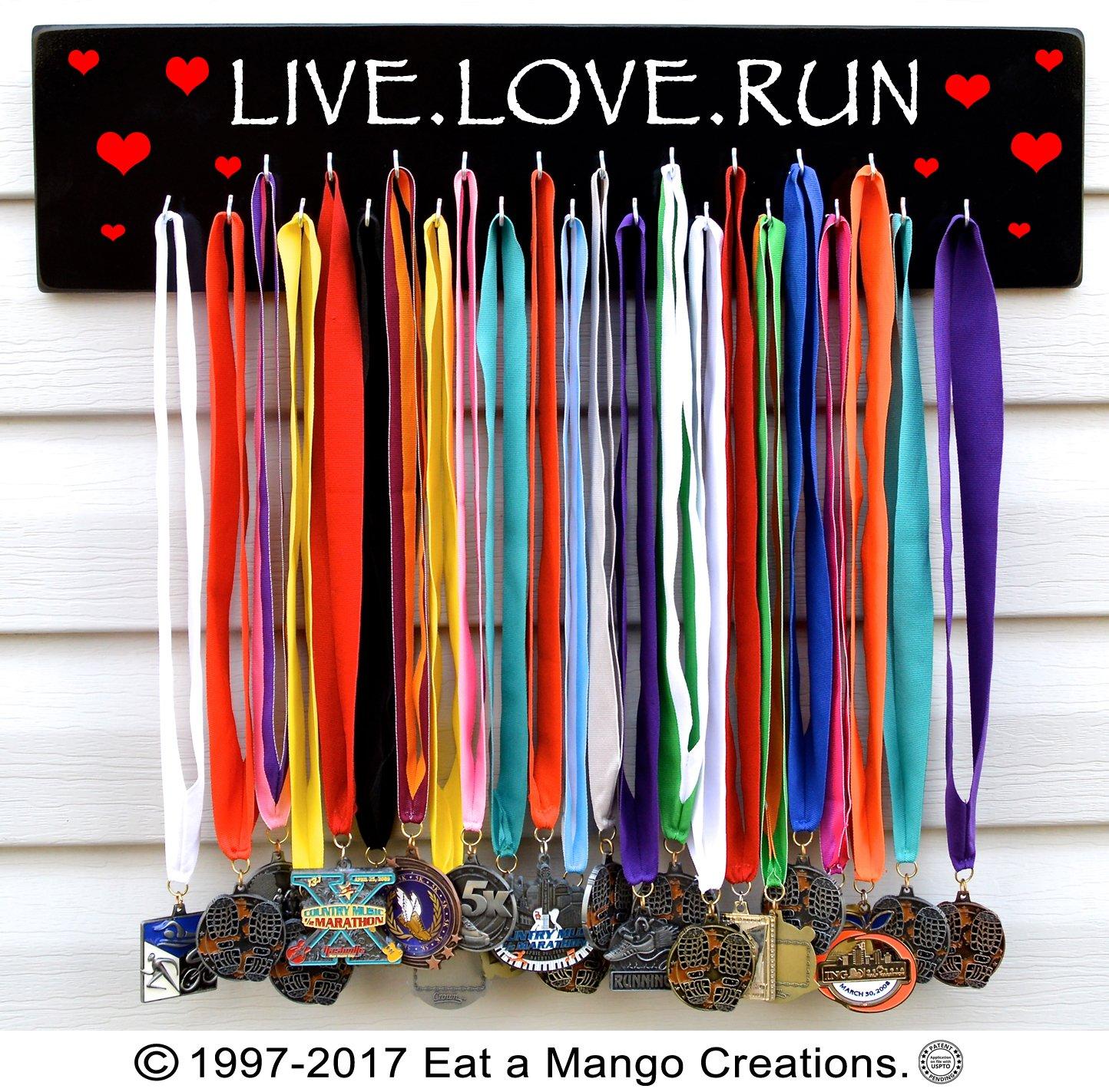 Fast shipping-runningメダルホルダー、Live Love Run、s4577 B076QJH59F