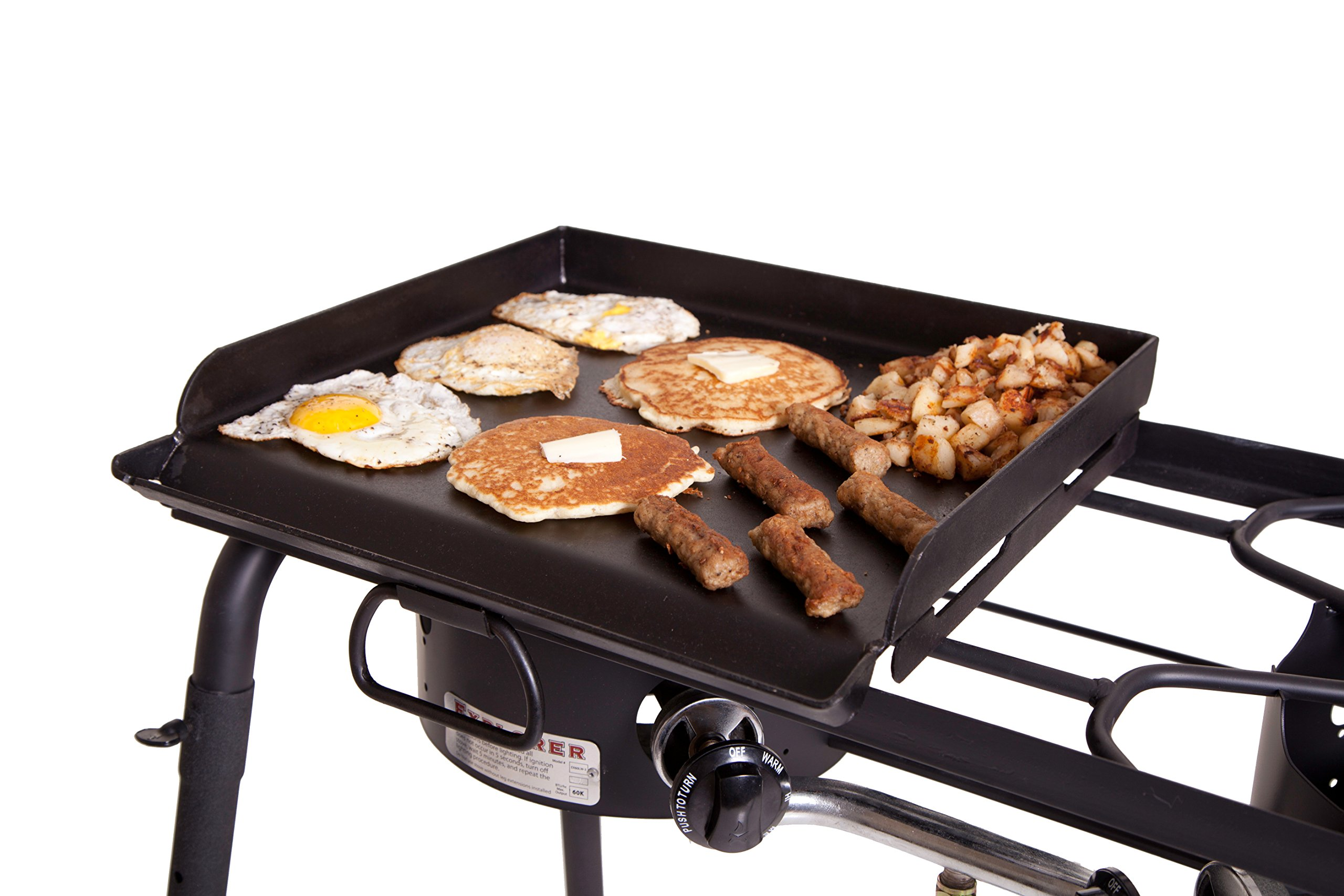 Camp Chef SG30 Professional Steel Fry Flat Top Griddle, Pre-Seasoned - Fits All Blue Flame Stoves (single burner) by Camp Chef