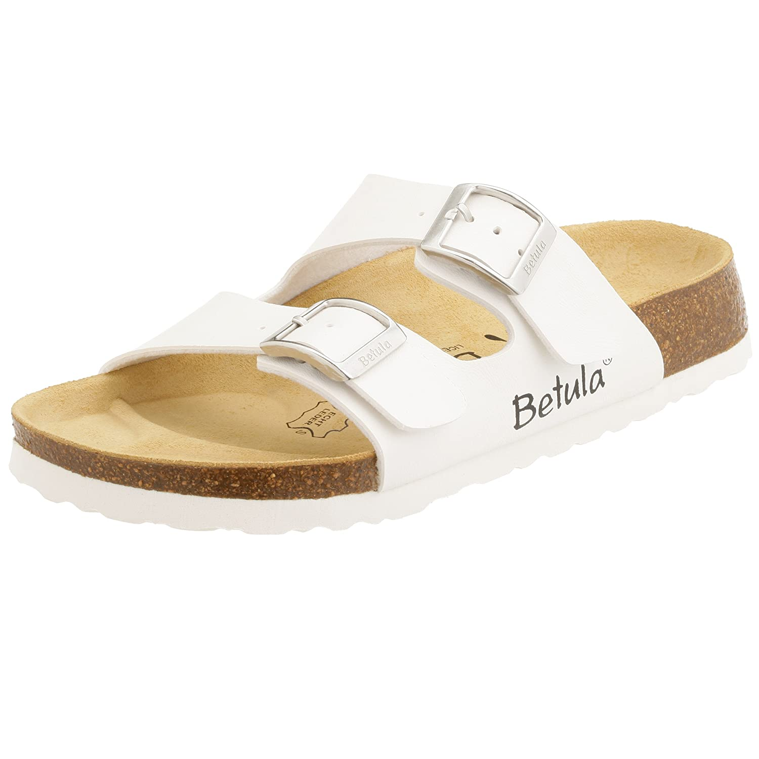 4c8b9b756 Betula   2-Strap   from Birko-Flor in White 39.0 EU N  Amazon.co.uk  Shoes    Bags