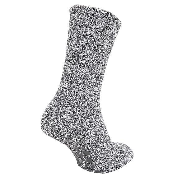 FLOSO - Calcetines Ultra calientes anti-deslizante para andar por casa (39.5-47