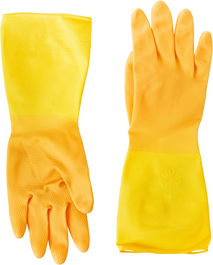 Marigold Extra Life Kitchen Layered Rubber Gloves Medium OR  Large Size 3 Pairs