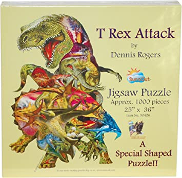 SUNSOUT INC T Rex Attack 1000 pc Jigsaw Puzzle