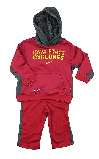 Nike niños NCAA Iowa State ciclones 2 Piezas Sudadera con Capucha & Pantalones Therma-fit