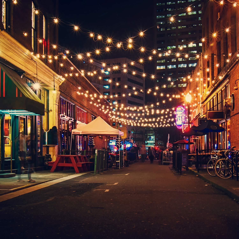 OxyLED G40 25ft Luces de la secuencia del jard/ín al aire libre,Decorative String Luces de patio,Garden Terrace Luces de patio de Navidad Versi/ón actualizada Guirnaldas luminosas de exterior,
