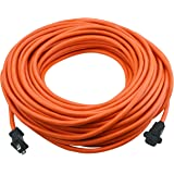 Clear Power 100 ft Outdoor Extension Cord 16/2 SJTW, Orange, Water & Weather Resistant, Flame Retardant, 2 Prong…