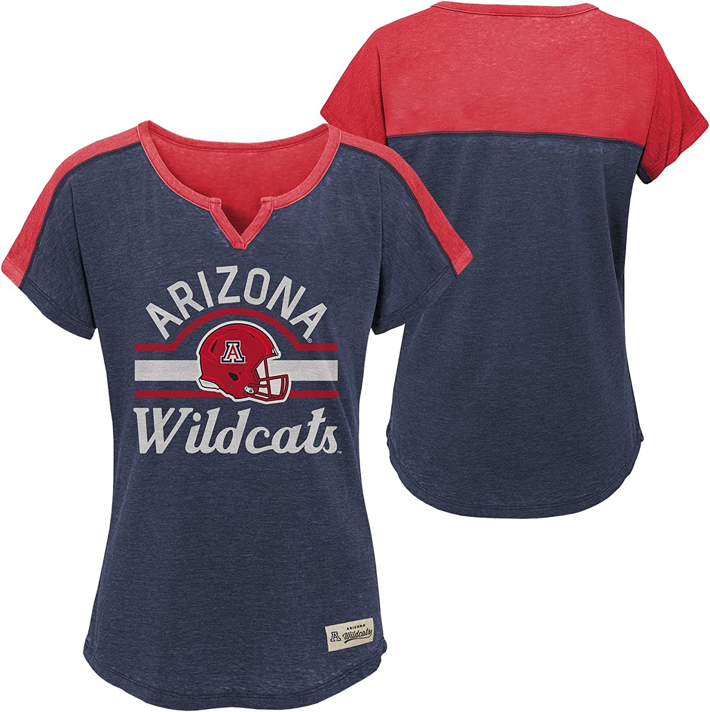 7-8 NCAA by Outerstuff NCAA Arizona Wildcats Youth Girls Tribute Raglan Football Tee Dark Navy Youth Small