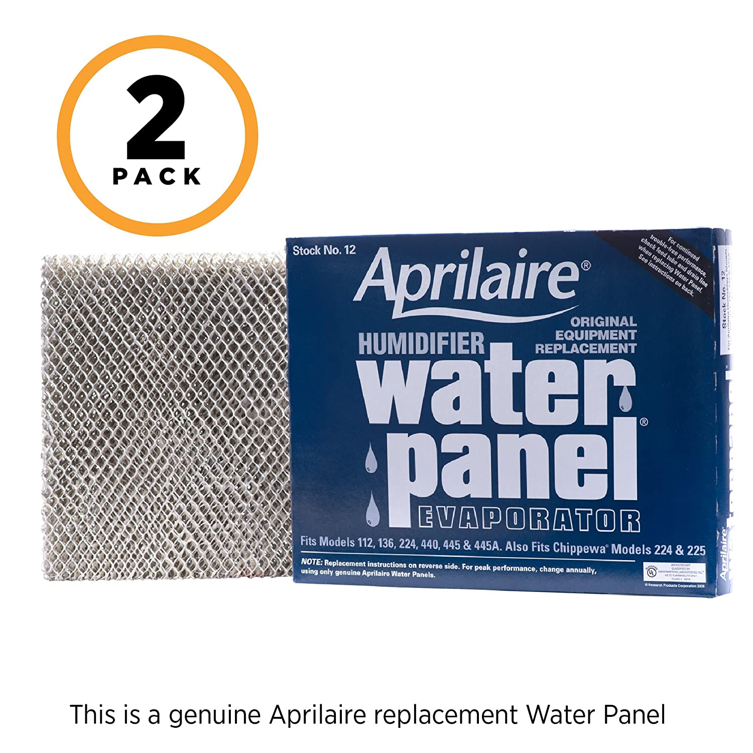 Aprilaire 12 Replacement Water Panel for Aprilaire Whole House Humidifier Models 112, 224, 225, 440, 445, 448 (Pack of 2)