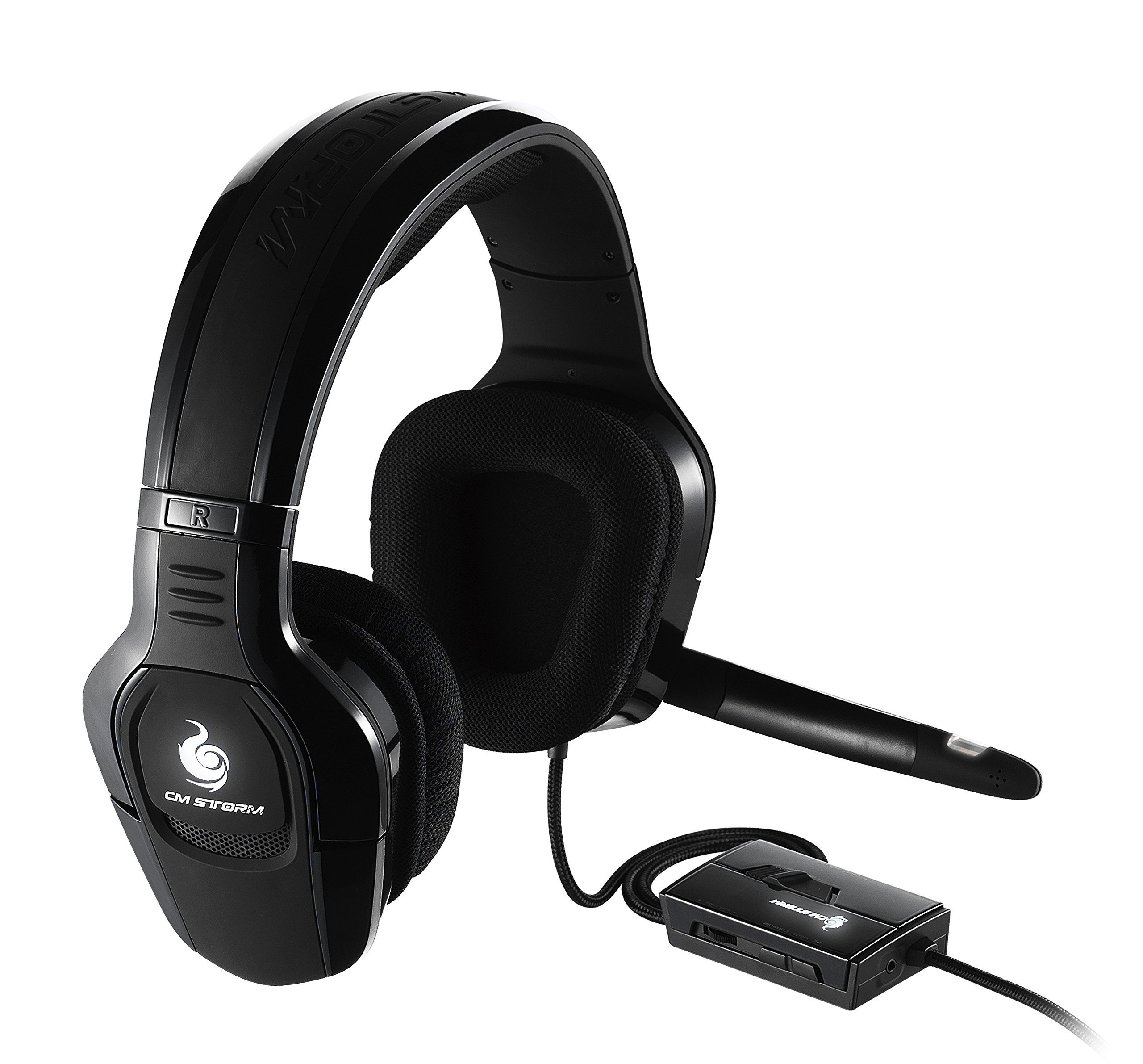 Cooler Master Sirus C Gaming Headset 'Weiße LED-Beleuchtung, Lautstärkeregler mit Stummschalter, 2.2 Channel, 44mm Treibern' SGH-4650-KC3D1 by Cooler Master (Image #1)