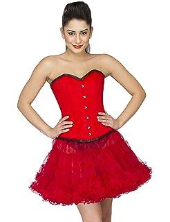 a272a28f2d Red Velvet Gothic Burlesque Halloween Costume Waist Training Overbust  Corset Top